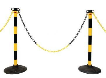 Chain stanchion package -Light-, 6 Plastic stanchions incl.25m chain