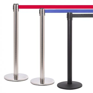 FlexiBarrier Belt Stanchion -Pro 250- (3.4m belt)