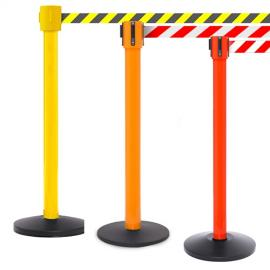 FlexiBarrier Belt Stanchion -SafetyPro 1050- (10.6m belt)