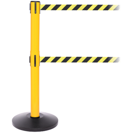 FlexiBarrier Belt Stanchion -Safety Twin- (2x3.4m belt)