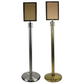 FlexiBarrier -Basic- Stanchion with sign frame