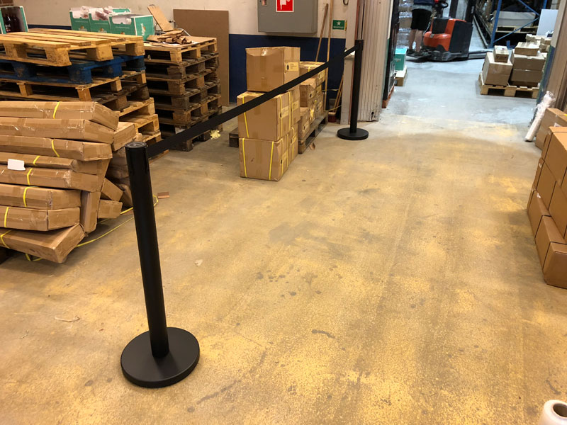 FlexiBarrier Belt Stanchion -Basic 500- (5m belt)