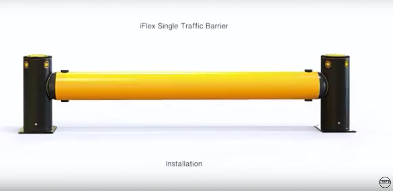 A-SAFE | Installation of iFlex Single Traffic Safety Barrier